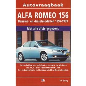 Alfa Romeo 156 Vraagbaak P. Olving  Benzine/Diesel Kluwer 97-99 nieuw   ISBN 90-215-8789-0 Nederlands