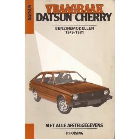 Datsun Cherry Vraagbaak P. Olving  Benzine Kluwer 79-81 met gebruikssporen   Nederlands