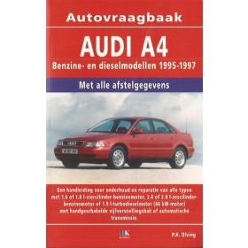 Audi A4 Vraagbaak P. Olving  Benzine/Diesel Kluwer 95-97 nieuw   ISBN 90-201-2957-0 Nederlands