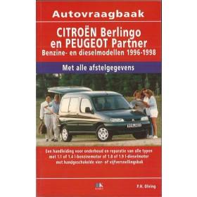 Citroen/Peugeot Berlingo/Partner Vraagbaak P. Olving  Benzine/Diesel Kluwer 96-98 nieuw   ISBN 90-215-3318-9 Nederlands