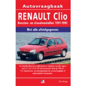 Renault Clio Vraagbaak P. Olving  Benzine/Diesel Kluwer 91-93 nieuw   ISBN 90-201-2866-3 Nederlands