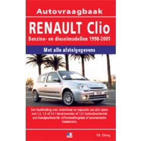 Renault Clio Vraagbaak P. Olving  Benzine/Diesel Kluwer 98-01 nieuw   ISBN 90-215-9942-2 Nederlands