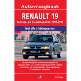 Renault 19 Vraagbaak P. Olving Benzine/Diesel Kluwer 92-95 nieuw ISBN 90-201-2967-8 Nederlands