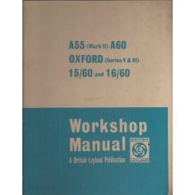 Austin/Morris/Wolseley A55/60/Oxford/15-60/16-60 Werkplaatshandboek  Mk2/Series 5/Series 6 Benzine Fabrikant 69 met gebruikssporen ringband, volledigheid niet verifieerbaar  Engels