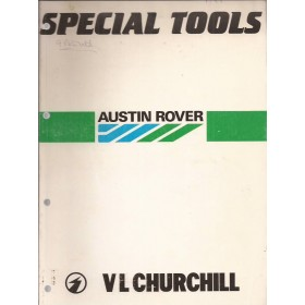 Austin Mini/Metro/Maestro Gereedschapscatalogus   Benzine Fabrikant 86 met gebruikssporen   Engels/Frans/Duits/Italiaans