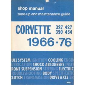 Chevrolet Corvette Werkplaatshandboek   Benzine Fabrikant 66-76 ongebruikt   Engels