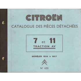 Citroen 7/11 Onderdelengids   Benzine Fabrikant 34-57 ongebruikt   Frans