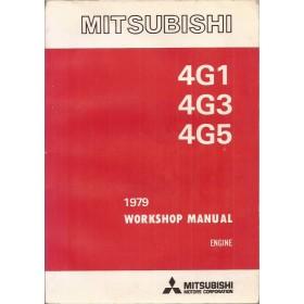 Mitsubishi Colt/Lancer Werkplaatshandboek   Benzine Fabrikant 79 met gebruikssporen engine  Engels