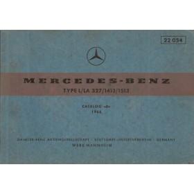 Mercedes-Benz L/LA 327/1413/1513 Onderdelengids   Benzine Fabrikant 66 ongebruikt   Duits/Engels/Frans/Spaans