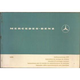 Mercedes-Benz LKW opbouwinstructie Opbouwinstructie   Benzine Fabrikant 70 met gebruikssporen   Duits