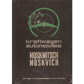 Moskwitsch/Moskvich 426/433 Onderdelengids   Mengsmering Fabrikant 66 met gebruikssporen   Duits/Spaans