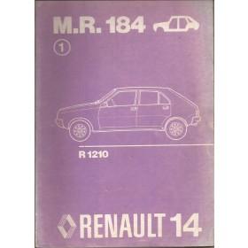 Renault 14 Werkplaatshandboek  R1210 Benzine Fabrikant 76 ongebruikt carrosserie  Nederlands