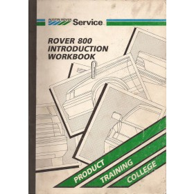 Rover 800 Technisch introductieboek   Benzine Importeur 86 met gebruikssporen   Nederlands