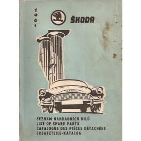 Skoda Octavia Onderdelengids   Benzine Fabrikant 61 met gebruikssporen   Engels/Frans/Duits