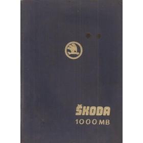 Skoda 1000MB Werkplaatshandboek   Benzine Fabrikant 64 met gebruikssporen   Frans
