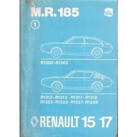Renault 15/17 Werkplaatshandboek R1300 R1302 R1312 R1313 R1317 R1318 R1322 R1323 R1327 R1328 Benzine Fabrikant 76 met gebruikssporen mechanisch gedeelte Nederlands