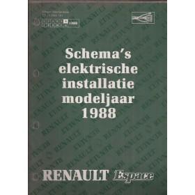 Renault Espace Werkplaatshandboek Benzine/Diesel Fabrikant 88 ongebruikt Elektrische schema Nederlands