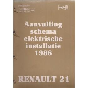 Renault 21 Werkplaatshandboek Benzine/Diesel Fabrikant 86 ongebruikt schema elektrische installatie Nederlands