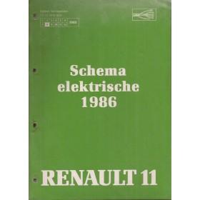 Renault 11 Werkplaatshandboek Benzine/Diesel Fabrikant 86 ongebruikt Elektrische schema Nederlands