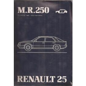 Renault 25 B290 B296 B297 B298 B29E Werkplaatshandboek Benzine/Diesel Fabrikant 83 met gebruikssporen carrosserie Nederlands