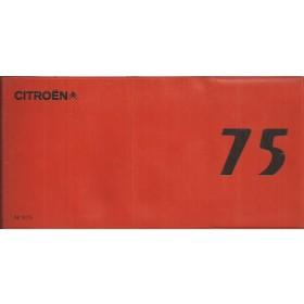 Citroen 2CV Dyane AMI GS DS CX C35 monteurszakboekje Fabrikant 75 met gebruikssporen Frans
