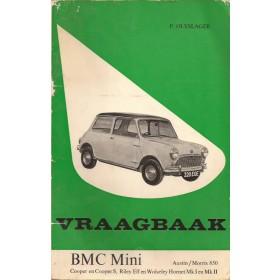 B.M.C. Mini Vraagbaak P. Olyslager  Benzine Kluwer 59-65 met gebruikssporen   Nederlands