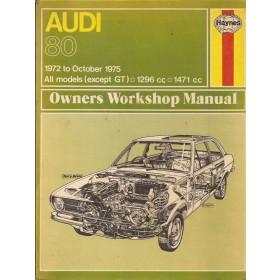 Audi 80 Owners workshop manual J. Haynes  Benzine Haynes UK 72-75 met gebruikssporen   Engels