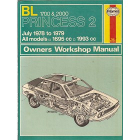 Princess 1700/2000 Owners workshop manual J. Haynes  Benzine Haynes UK 78-79 met gebruikssporen   Engels