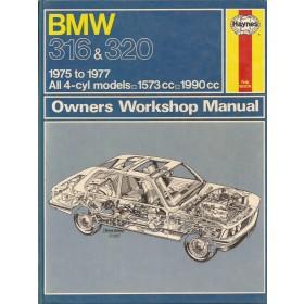 BMW 316/320 Owners workshop manual J. Haynes Type E21 Benzine Haynes UK 75-77 met gebruikssporen   Engels