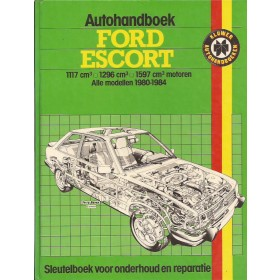 Ford Escort Autohandboek P.H. P. Olving Mk3 Benzine Kluwer 80-84 met gebruikssporen   Nederlands