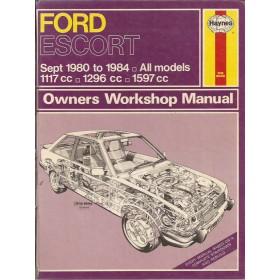 Ford Escort Owners workshop manual J. Haynes Mk3 Benzine Haynes UK 80-84 met gebruikssporen rug beschadigd  Engels