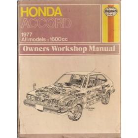 Honda Accord Owners workshop manual J. Haynes  Benzine Haynes UK 76-77 met gebruikssporen   Engels