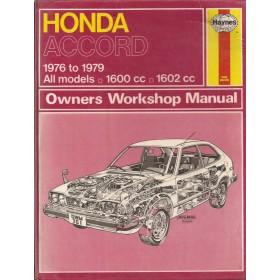 Honda Accord Owners workshop manual J. Haynes  Benzine Haynes UK 76-79 met gebruikssporen   Engels