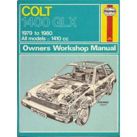 Mitsubishi Colt Owners workshop manual J. Haynes 1400 GLX Benzine Haynes UK 79-80 met gebruikssporen   Engels
