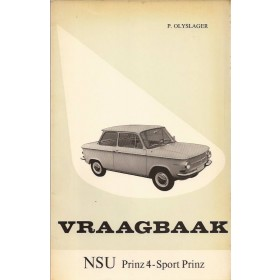 NSU Prinz 4 / Sport Prinz Vraagbaak P. Olyslager  Benzine Kluwer 62-66 ongebruikt   Nederlands