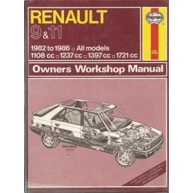 Renault 9/11 Owners workshop manual J. Haynes  Benzine Haynes UK 82-86 met gebruikssporen   Engels