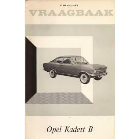 Opel Kadett B Vraagbaak P. Olyslager  Benzine Kluwer 65-66 ongebruikt   Nederlands