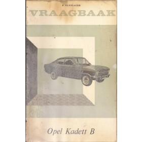 Opel Kadett B Vraagbaak P. Olyslager  Benzine Kluwer 65-66 met gebruikssporen folie kaft lelijk  Nederlands