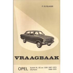 Opel Kadett B/Olympia Vraagbaak P. Olyslager  Benzine Kluwer 67-73 met gebruikssporen hoekje van achterkaft  Nederlands