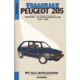 Peugeot 205 Vraagbaak P. Olving  Benzine/Diesel Kluwer 87-90 nieuw   Nederlands
