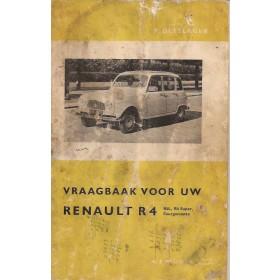 Renault 4 Vraagbaak P. Olyslager  Benzine Kluwer 61-63 met gebruikssporen vochtschade  Nederlands
