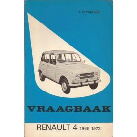 Renault 4 Vraagbaak P. Olyslager  Benzine Kluwer 69-72 met gebruikssporen   Nederlands