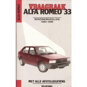 Alfa Romeo 33 Vraagbaak P. Olving  Benzine Kluwer 83-90 met gebruikssporen zonder achterkaft  Nederlands
