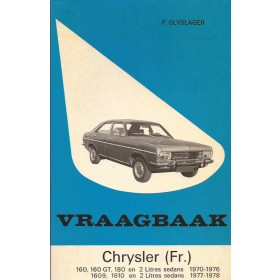 Chrysler 160 (GT)/180/1609/1610 Vraagbaak P. Olyslager  Benzine Kluwer 70-78 ongebruikt   Nederlands