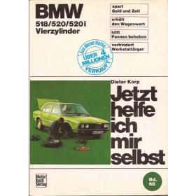 BMW 518/520/520i Jetzt helfe ich mir selbst D. Korp Type E12 Benzine Motorbuch Verlag 72-78 met gebruikssporen   Duits