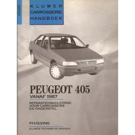 Peugeot 405 Kluwer carrosserie boek P. Olving  Benzine/Diesel Kluwer 87-90 ongebruikt   Nederlands