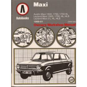 Austin Maxi Owners Workshop Manual K. Ball  Benzine Autobooks 69-81 ongebruikt   Engels
