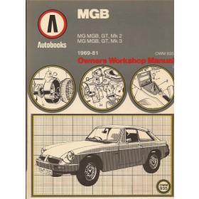 MG MGB Owners Workshop Manual K. Ball  Benzine Autobooks 69-81 met gebruikssporen   Engels