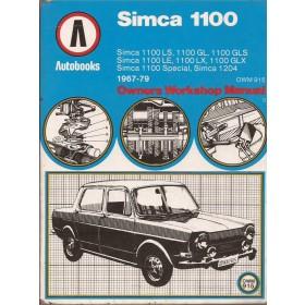 Simca 1100 Owners Workshop Manual K. Ball  Benzine Autobooks 67-79 met gebruikssporen   Engels