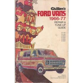 Ford Vans Repair & Tune-up guide  E-100/E-150/E-200/E-250/E-300/E-350 Benzine Chilton 66-77 met gebruikssporen   Engels